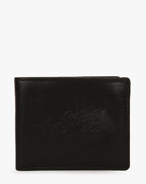 Faux Leather Bi-Fold Wallet By LEVIS ( Black ) - 460028269001
