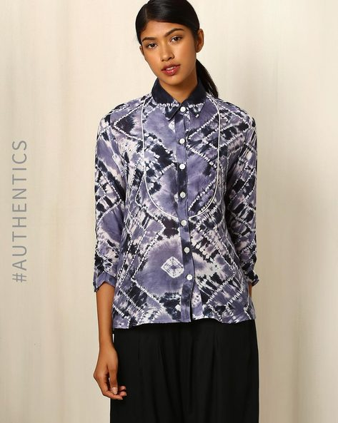 Shibori-Cotton-Silk-Shirt