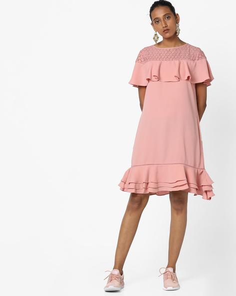 Shift Dress With Ruffles By Femella ( Blush )
