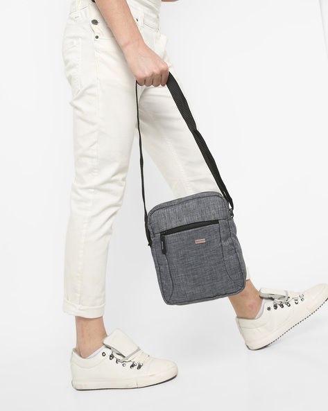 Crossbody Sling Bag With Adjustable Strap By Murano ( Grey )