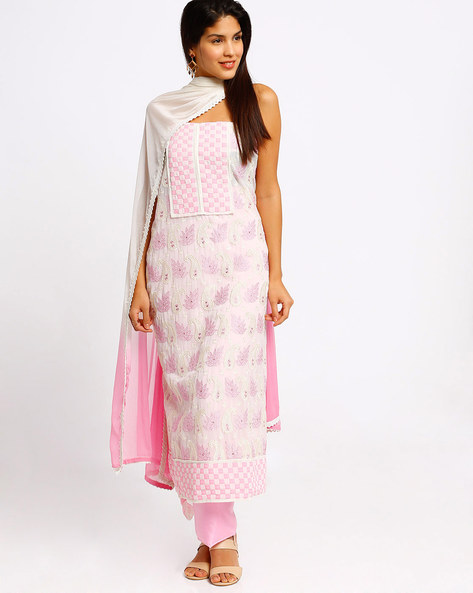 Embroidered Dress Material By Viva N Diva ( Champagne )