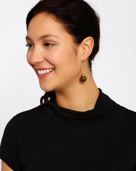 Gold-Plated Dangler Earrings By Shabnam Gitanjali ( Gold )