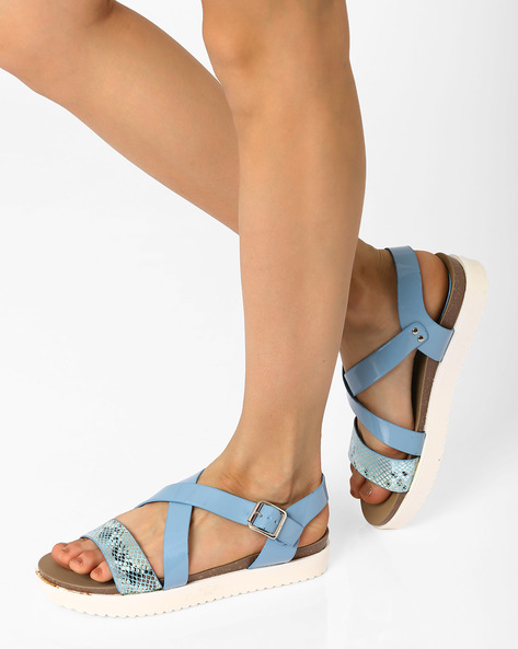 8ab93fd6e Multi-Strap Flatform Sandals By AJIO ( Blue ) Best Deals With Price ...