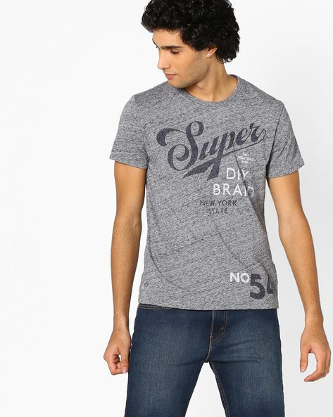 Graphic Print Crew-Neck T-shirt By SUPERDRY ( Kgh )