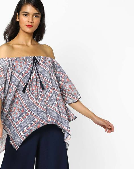 Floral Print Off-Shoulder Top By Rena Love ( Multi )