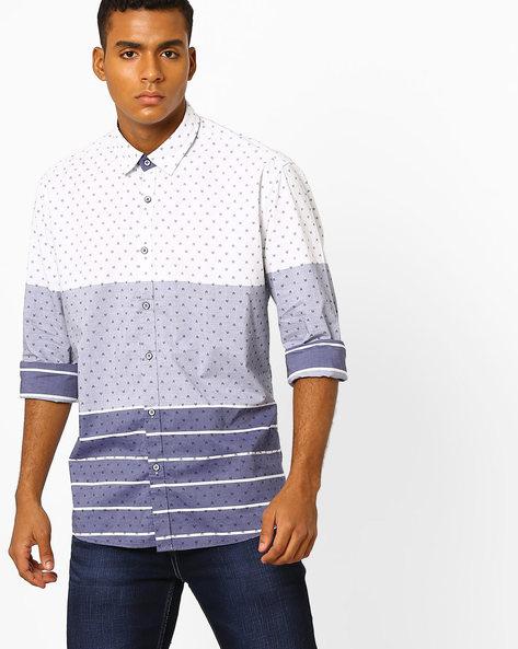 Printed Slim Fit Shirt By Killer ( Navy ) - 460074112002