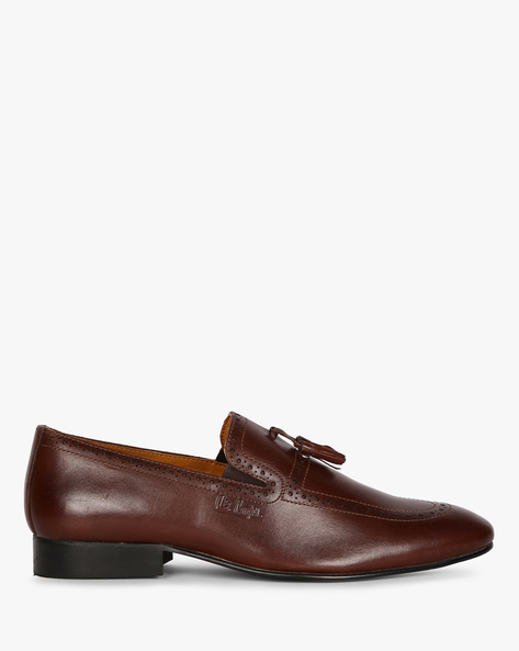 Genuine Leather Tassel Loafers By Lee Cooper ( Brown )