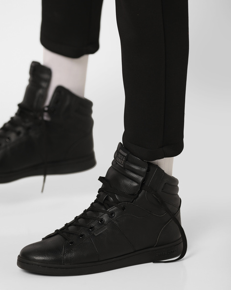 Bane High-Top Lace-Up Shoes By Jack & Jones ( Black )