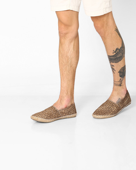Printed Canvas Espadrilles By FAMOZI ( Brown )