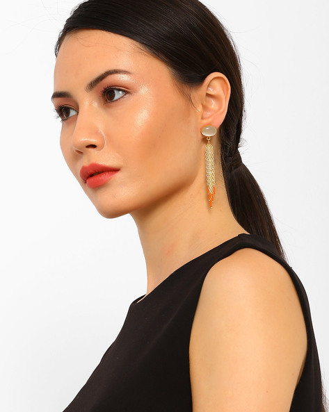 Statement Dangler Earrings By AJIO ( Gold ) - 460054042001