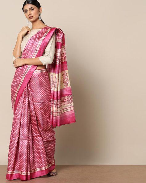 Handloom Pure Silk Tussar Printed Saree By Indie Picks ( Multi ) - 460147005001