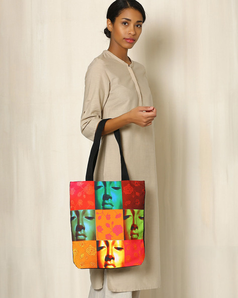 Digital Print Tote Bag By All Things Sundar ( Multi ) - 460040293001