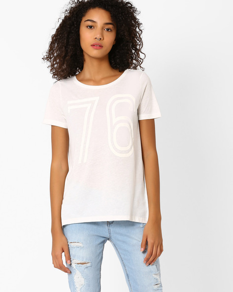 Printed Relaxed Fit T-shirt By Vero Moda ( White )