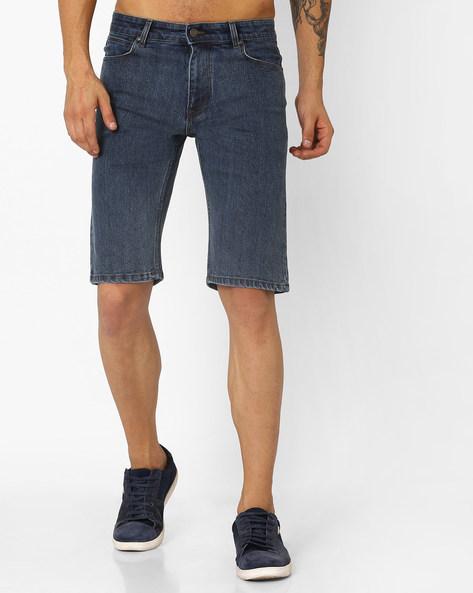 Slim Fit Cotton Shorts By Blue Saint ( Blue ) - 460050023002