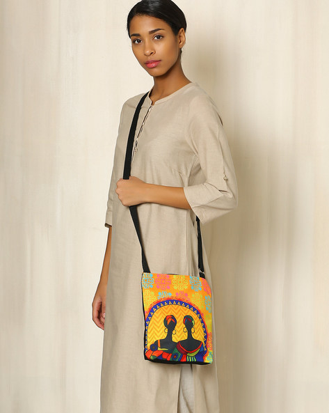 Digital Print Sling Bag By All Things Sundar ( Multi ) - 460040255001