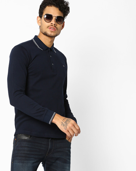 Slim Fit Polo T-shirt With Full Sleeves By GAS ( 0194 )