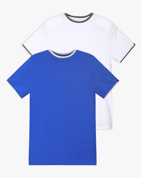 Pack Of 2 T-shirts With Contrast Accent By BASICS ( Blue )
