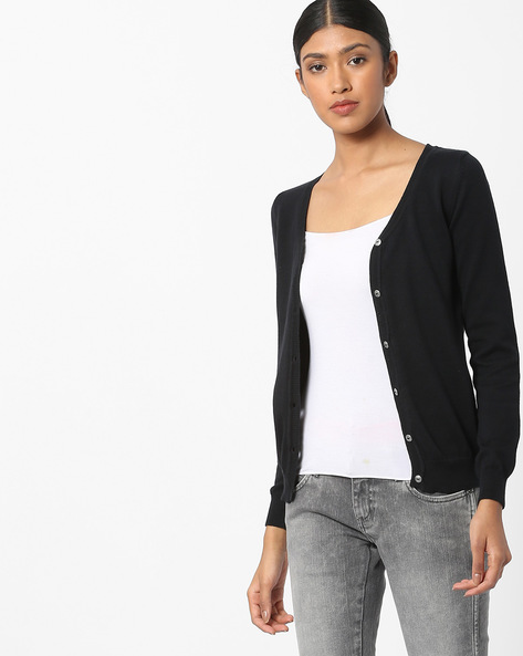 Cardigan With Scoop Neck By WRANGLER ( Black )
