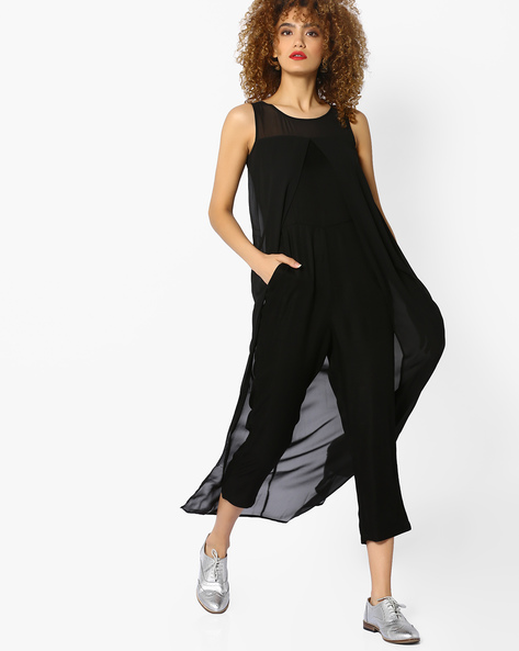 Layered Jumpsuit With Pocket By CODE By Lifestyle ( Black )