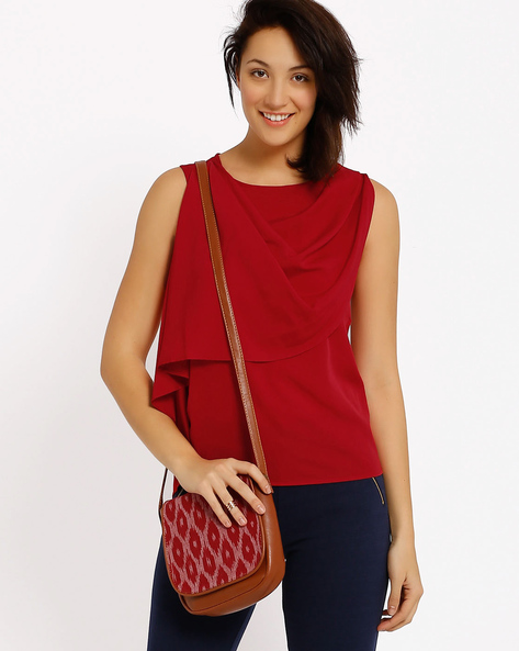 Layered Top By Annabelle By Pantaloons ( Maroon )