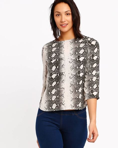 Printed Top By CHM ( Black )