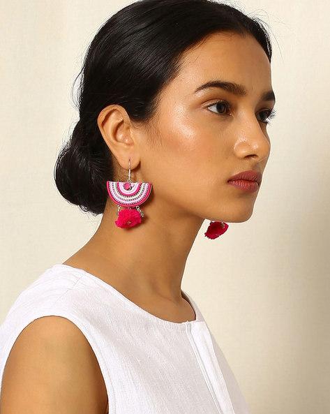 Crescent-Shaped Beaded Drop-Earrings By Indie Picks ( Multi ) - 460042523001