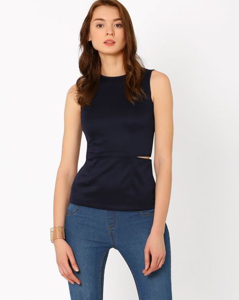 Top With Cut Out Detail By RIDRESS ( Navy )