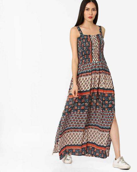 Printed Strappy Maxi Dress By Rena Love ( Multi )