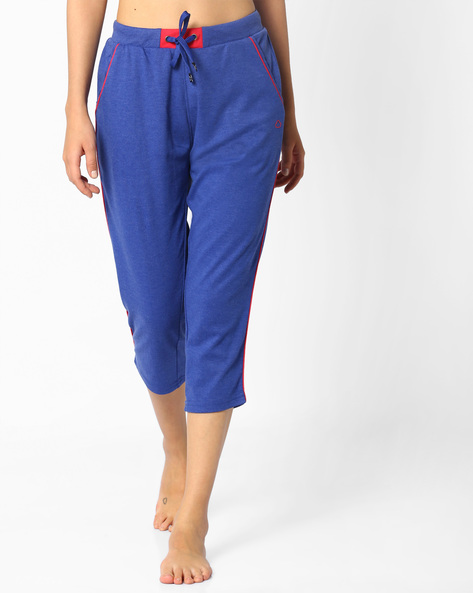 Capris With Drawstring Waist By Sweet Dreams ( Blue )