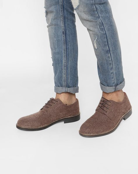 Low-Top Lace-Up Derby Shoes By Knotty Derby ( Brown )