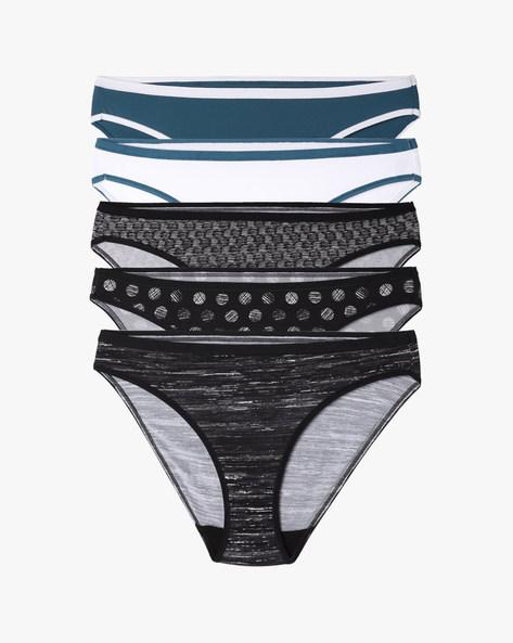 Pack Of 5 Bikini Panties By Marks & Spencer ( Clearblack )