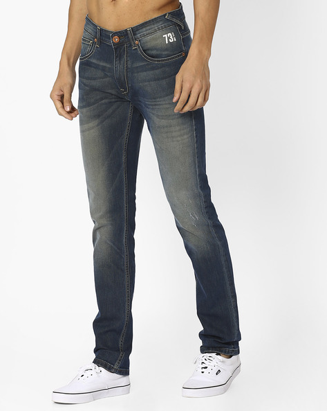Lightly Washed Skinny Jeans By Pepe Jeans ( Green )