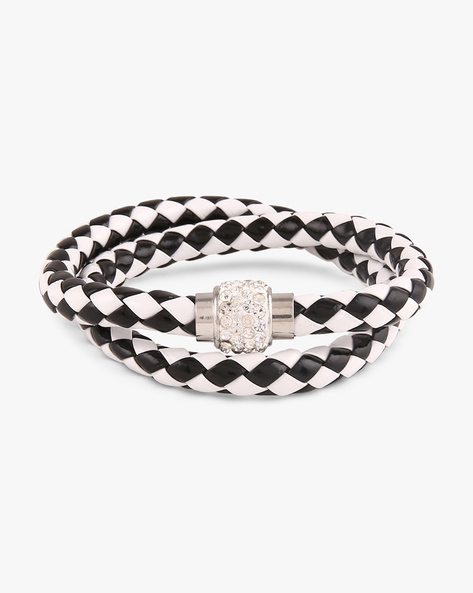 Braided Bracelet With Metal Accent By ALPHA MAN ( Multicolor )