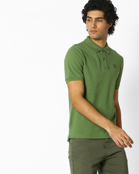 Polo T-shirt With Signature Branding By DNMX ( Green )