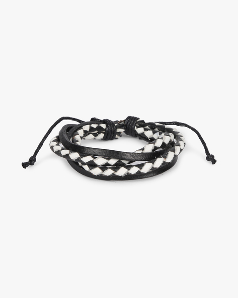 Braided Multistrand Bracelet By ALPHA MAN ( Black )
