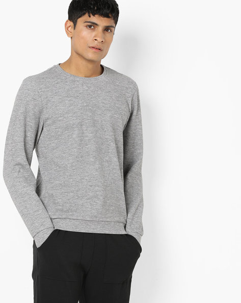 Heathered Slim Fit Crew-Neck Sweatshirt By GAS ( 174 )