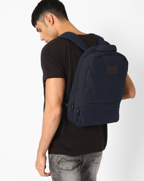 Backpack With Laptop Compartment By FAMOZI ( Navy )