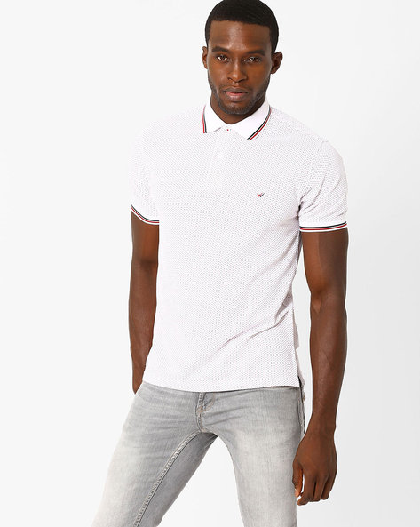 Clive Sport Slim Polo T-shirt By Wills Lifestyle ( White )
