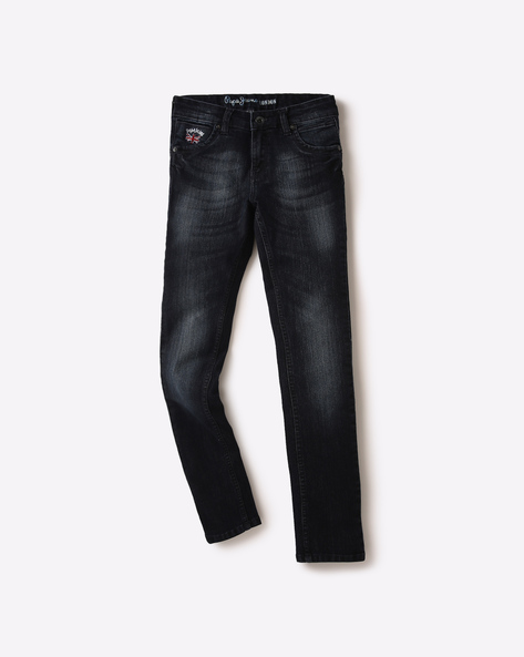 Slim Fit Lightly Washed Jeans By PEPE ( Blue )