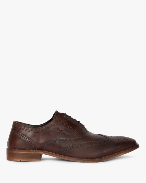 Genuine Leather Brogue Oxfords By RED TAPE ( Brown )