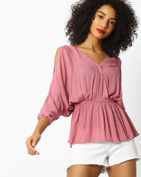 Panelled Top With Surplice Neck By Rena Love ( Lightpink )