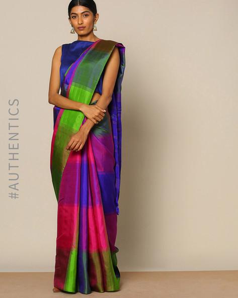 Pure Silk Woven Designer Saree By Rudrakaashe-MSU ( Navyblue )