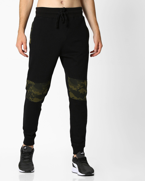 Joggers With Camouflage Print Panels By DEEZENO ( Black )
