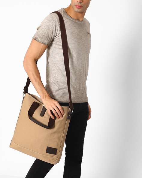 Convertible Messenger Bag By FAMOZI ( Beige )