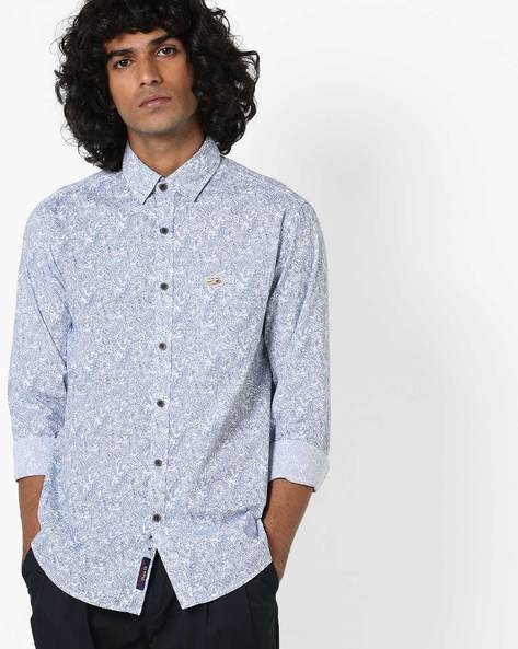 Printed Shirt With Curved Hemline By US POLO ( Assorted )