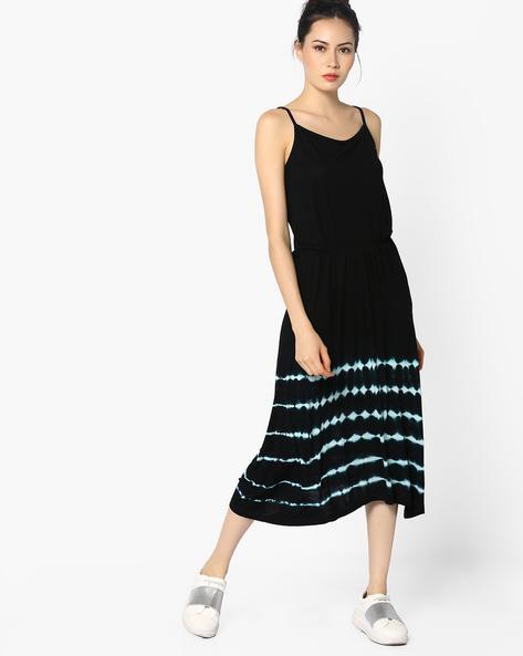 Strappy Midi Dress By AJIO ( Blue )