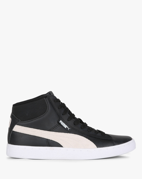 1948 Mid L IDP Lace-Up Casual Shoes By Puma ( Black )