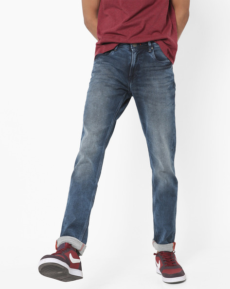 Lightly Washed Skinny Fit Jeans By Killer ( Blue )