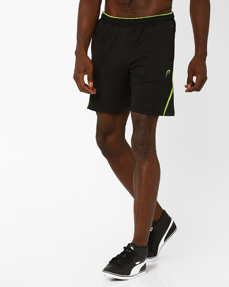 Shorts With Elasticated Waist By PROLINE ( Black )
