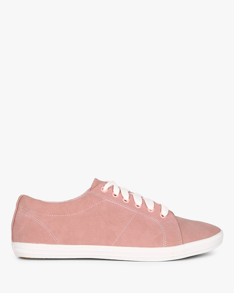 Lace-Up Casual Shoes By AJIO ( Purple )